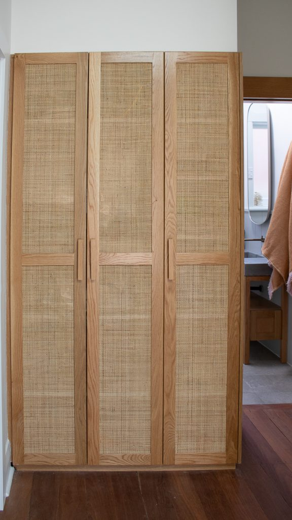 Custom made rattan cupboards